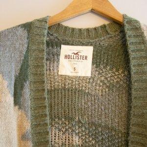 Hollister Sweaters - Hollister Camo Long Sweater Cardigan